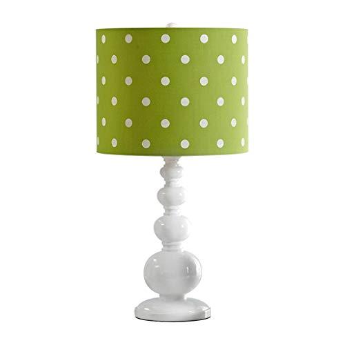 YI0877CHANG Lamparilla de Noche Resina lámpara de Mesa lámpara de Mesa Sala de Estar Dormitorio lámpara de cabecera iluminación del hogar Lámpara Mesilla (Color : Green)