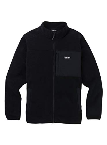 Burton Hearth Full-Zip Fleece Polaire zippée Homme, True Black, FR : 2XL (Taille Fabricant : XXL)