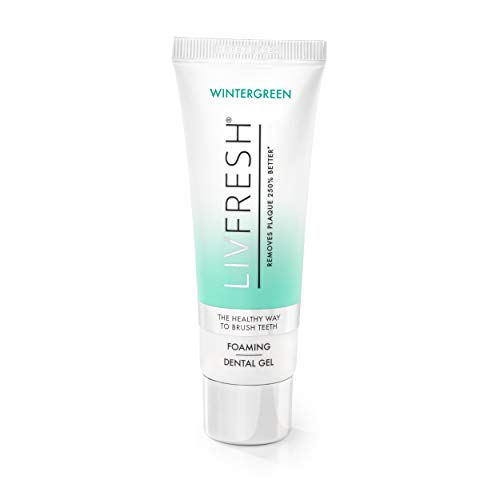 LIVFRESH Dental Gel by Livionex - Clinically Proven to Remove Plaque 250% Better (Foaming + Wintergreen + Blue Gel)