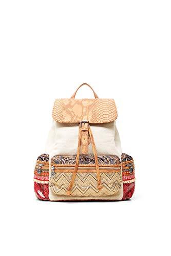 Desigual Fabric Backpack Medium, Zaino Medio Donna, Marrone