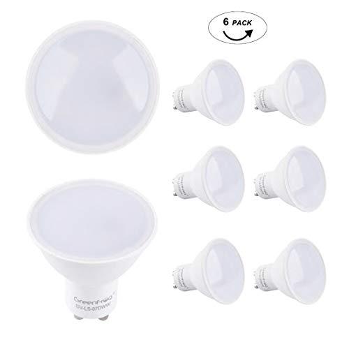 Greenfrog 6er Pack Led Lampe GU10 COB 6.5W Warmweiss 3000K 500 Lumen AC 175-265V LED Spot 3 Jahre Garantie (120° Beam Angle 6.5W)