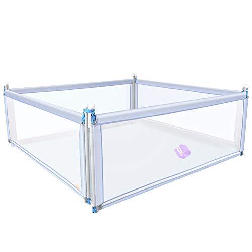 XJJUN Barrière De Lit Vertical Lift Height Adjustable Barrière De Sécurité for Lit De Bébé Silent Double Safe and Breathable Safety,3 Colors, 2 Sizes (Color : Gray, Size : 200x180x65cm)