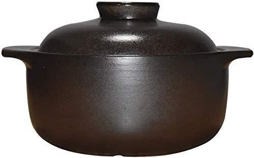 ERRWERFW Pentola in Ceramica Resistente alle Alte Temperature Casseruola Pentola per stufati Pentola con Coperchio Rotondo