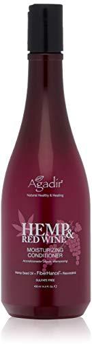 AGADIR Hemp & Red Wine Moisturizing Conditioner, 14.5 Fl Oz