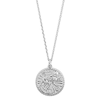 HONEYCAT Chinese Zodiac Coin Necklace | Minimalist Delicate Jewelry  Silver Monkey
