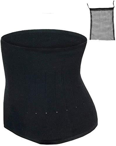ITODA Wärmegürtel Unisex Rückenwärmer Winter Taillengürtel Nierenschutz Nierengurt Damen Herren Wärmeschutz Gürtel Nierenwärmer Taille Unterstützung Bauchgürtel für Erwachsene Jugendliche Schwarz L