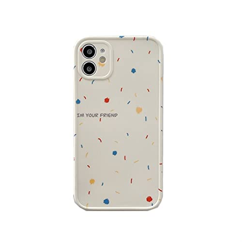 Funda De Teléfono con Dibujo De Garabatos para iPhone Carcasa Bonita Y Suave De Color para iPhone 12 11 Pro MAX XR XS MAX 7 8 Plus 12 Mini 7Plus (Color : A, Size : For iPhone12 Pro MAX)