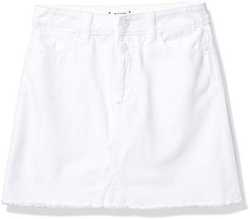 PAIGE Women s Aideen HIGH Waisted A LINE Double Button Flirty Denim Skirt Crisp White 28 product image