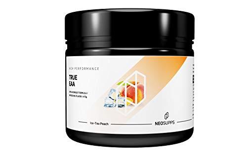 Neosupps True EAA Ice-Tea Peach   Aminosäure Getränk   Perfekte Löslichkeit   Premium Qualität   Aspartame Free   Muskelaufbau oder Abnehmen und Diät, Geschmack:Ice-Tea Peach