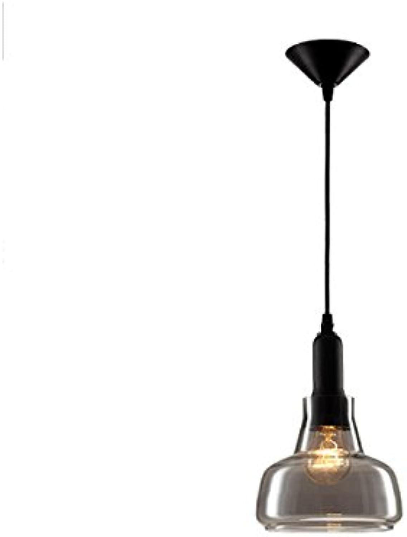 Modeen Industrial Modern Vintage Edison Verstellbare Hngeleuchte Fitting Anhnger Deckenleuchten Lampenhalter Kronleuchter mit Clear Globe Glas Licht Schatten für Loft Bar Küche Schlafzimmer