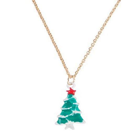 qiangdedianzishang Collar de Navidad Copo de Nieve Gotas Blanco K Suéter Cadena Accesorios de Ropa Colgante Cuerda Encanto Femenino