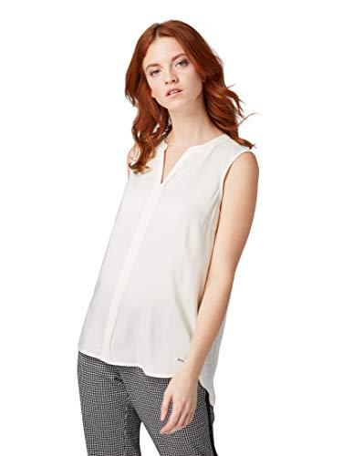 TOM TAILOR DENIM Blusen, Shirts & Hemden Ärmellose Bluse Off White, M