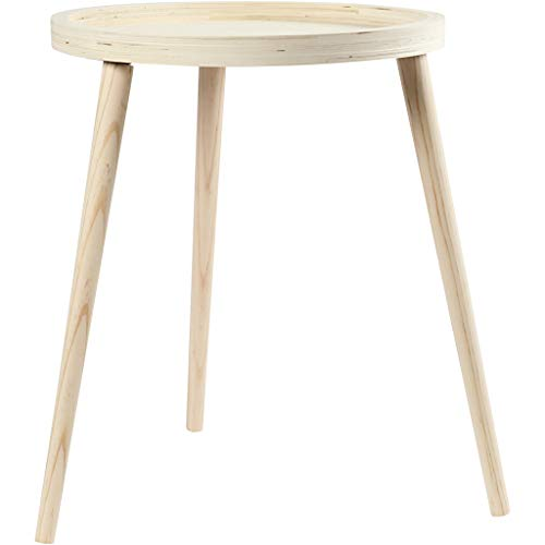 Dienblad tafel, h: 48 cm, d: 40 cm, triplex, 1stuk