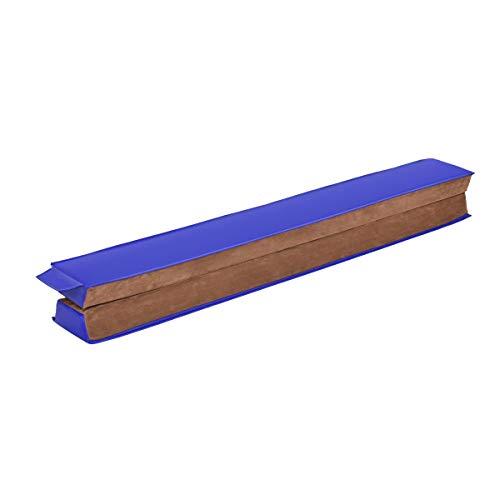 Goplus Trave da Ginnastica Equilibrio piegevole Trave di Equilibrio per Palestra in Finta Pelle Fascio Ginnastica per Allenamento in Palestra a casa con Velcro 240cm