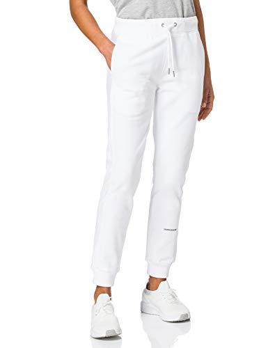Calvin Klein Jeans Micro Branding Jogging Pant Tuta da Ginnastica, Bianco Brillante, S Donna