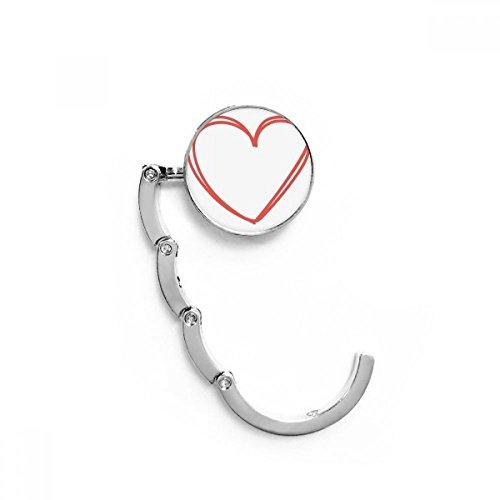 DIYthinker Día Corazón Doble líneas de la Tabla de San Valentín Gancho...