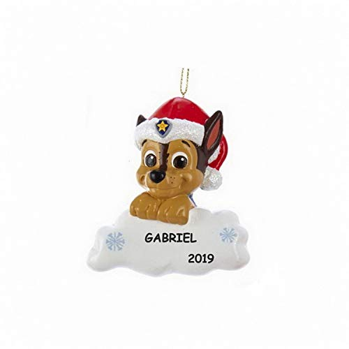 Personalized Paw Patrol Kids Christmas Ornament (Chase On A Cloud)