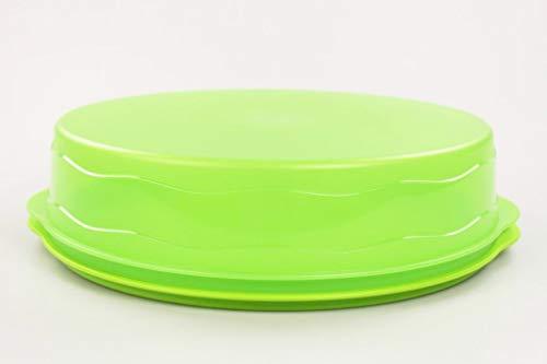 Tupperware Junge Welle Kuchenform rund grün Kuchen Form Tortenbehälter Torty 35476
