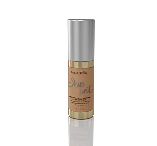 Mirabella Skin Tint Crème Medium Coverage Liquid Mineral-Based Foundation - III W, 30ml/1.0 fl.oz