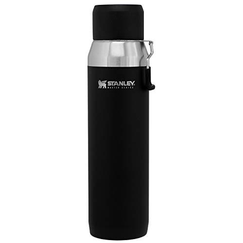 STANLEY(スタンレー) 新ロゴ マスター真空ウォーターボトル 1L マットブラック 直飲み 水筒 保冷 アウトドア 保証 03106-017 (日本正規品)