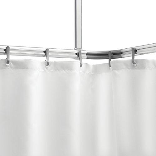 Sealskin Komplett Set Easy Roll Duschvorhangstange, Duschvorhanghalterung zur individuellen Montage auf Maß, Aluminium