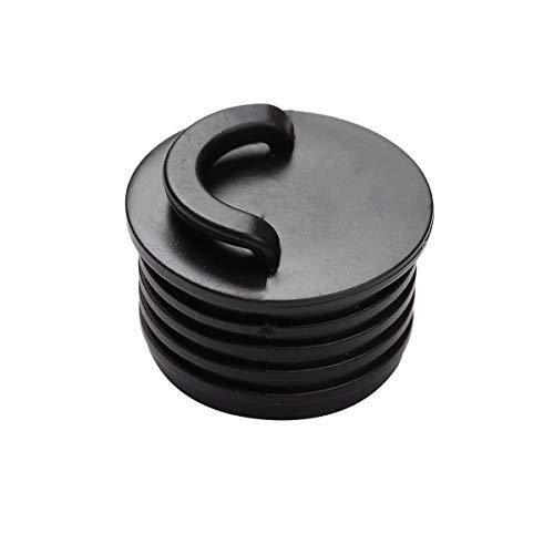 Agoky 10er Set Gummi Stopper Stöpsel mit Schrauben Plug Ersatzteile für Boote Kanu Kajak Zubehör Schwarz A 4cm
