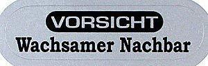 PVC stickers voor brievenbus - LET - WASSAMER NAKBAAR - 302044 - Gr. ca. 58 x 16 mm