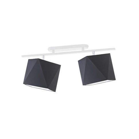 Lámpara de techo Akron pantalla grafito marco blanco