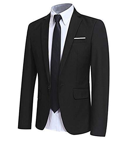 Allthemen Sakko Herren Slim Fit Sportlich Anzugjacke Herren Blazer für Business Hochzeit Freizeit