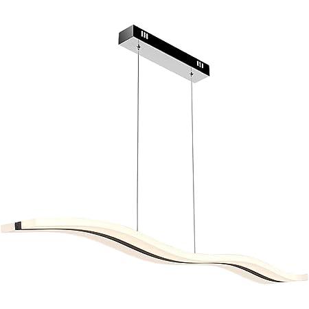 ARKTIVO Suspension LED,Moderne LED Lustre Wifi,Compatible avec Alexa, Google Home, plafonnier à LED pour table à Manger de Salon Contemporain, Entièrement Dimmable Par APP 36W 3200LM