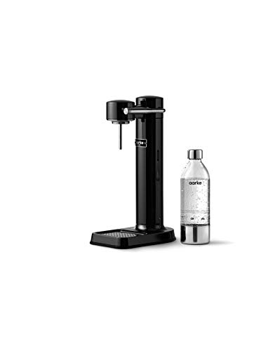 Aarke AAC3-BLACK Carbonator Wassersprudler, Stainless Steel, 1 Liter, Black Chrome