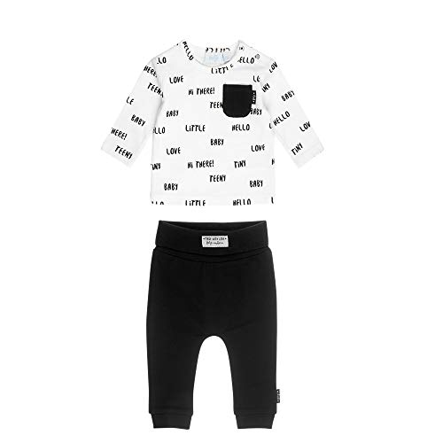Feetje Feetje Baby-Jungen Zweiteiliger Sweat-Anzug Little Baby, schwarz-weiß, 50