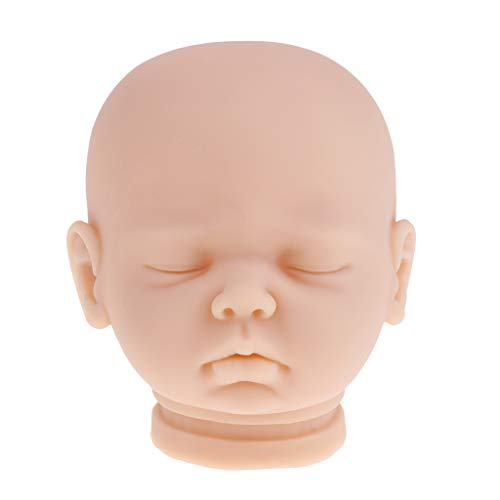 LEIPUPA Silicone Newborn Baby Doll Head Sculpt, Real Life Unpainted Mold for Your 20inch Reborn Doll, DIY Making Supplies, Mannequin Head Training Model
