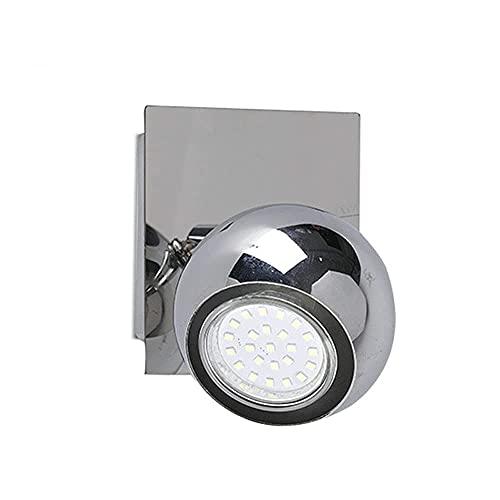 SFSGH Aplique de Pared Lámpara Decorativa con Foco de cabecera, Aplique de luz direccional montado en la Pared, Kit de iluminación de riel Fijo MR16, Focos de Techo para Estudio de dormi