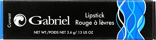 Gabriel Cosmetics, Lipstick (Currant), 0.13 Ounce, Lipstick, Natural, Paraben Free, Vegan, Gluten-free,Cruelty-free, Non GMO, long lasting, Infused with Jojoba Seed Oil and Aloe