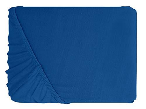 #13 npluseins Kinder-Spannbettlaken, Spannbetttuch, Bettlaken, 70×140 cm, Royalblau - 2
