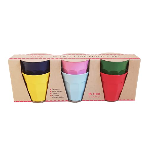 Rice Becherset Kinder Klein Espresso 6er Set Klassik Farben Größe 11cm Höhe
