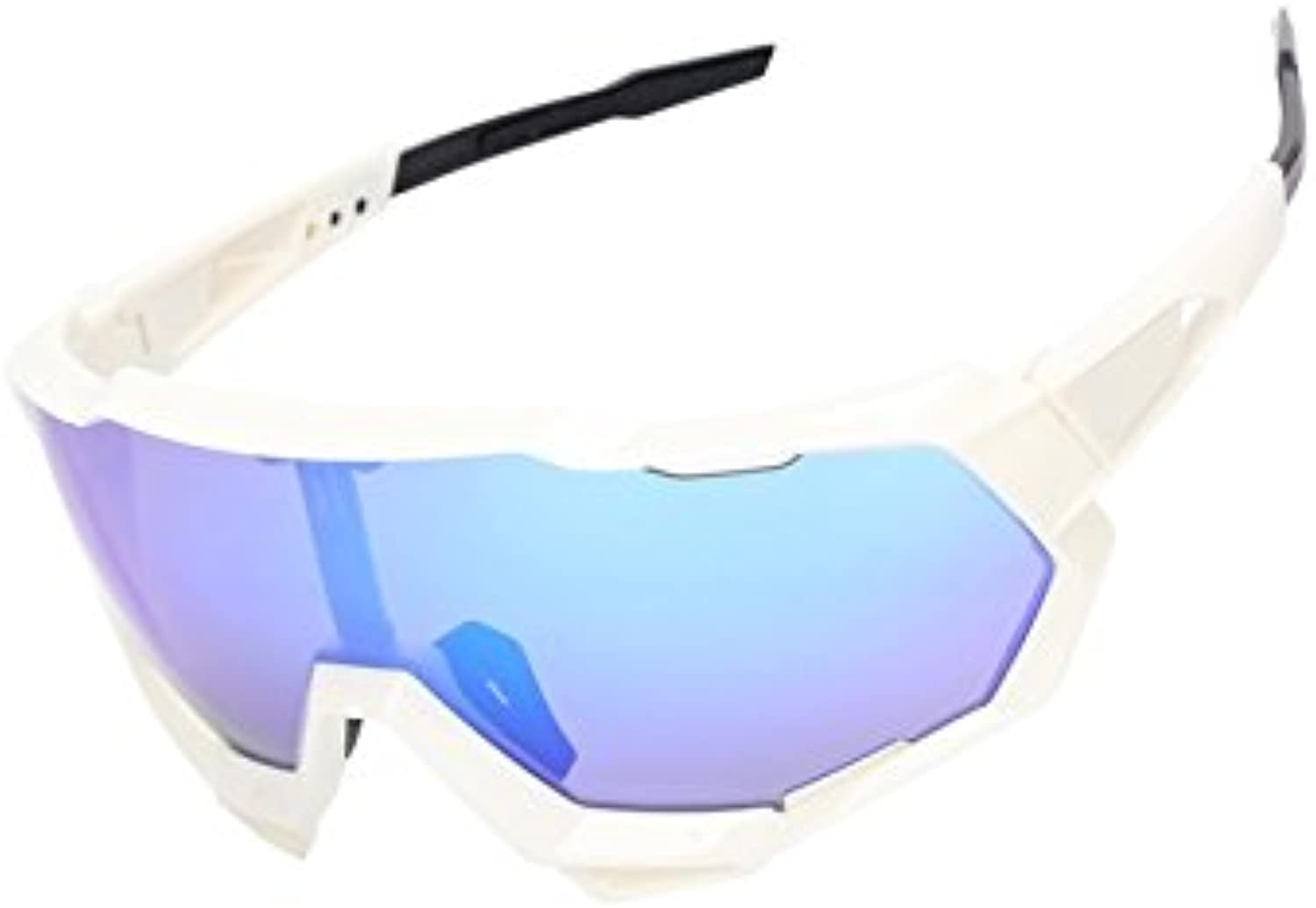 Bicycle Men Polarized Predection Sports Sunglasses Cycling Glasses Cycling Glasses for Outdoor Sports(White and Purple) for Personal