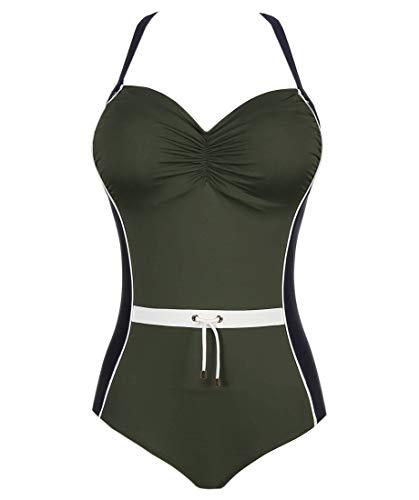 Prima Donna, Damen Badeanzug ungefüttert mit Bügel, Ocean Drive 4002030 (85G, Dark Olive)
