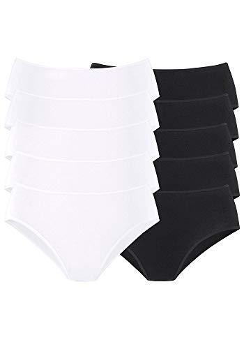 Goin Damen Jazzpants Slips von   10 Stück (36/38, bunt (5X schwarz   5 x weiß))