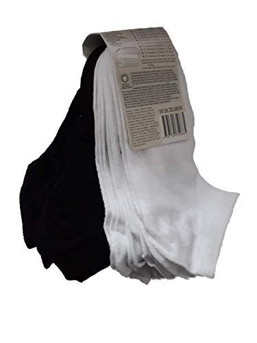 Unbekannt 10er Pack Herren Sneaker Socken Füßlinge Kurzsocken uni 39-42 43-46(PAL2/4-111,39-42,schwarz weiss)