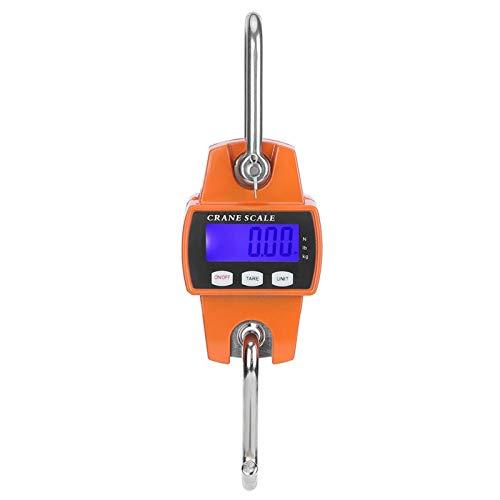 Leylor Báscula de grúa-300KG Báscula de grúa Industrial LCD Gancho electrónico Digital Báscula de Peso Colgante para Equipaje Grande