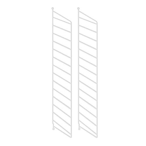 String System Wandleiter 75x20cm, weiß Wandmontage 75x20cm 2er Set