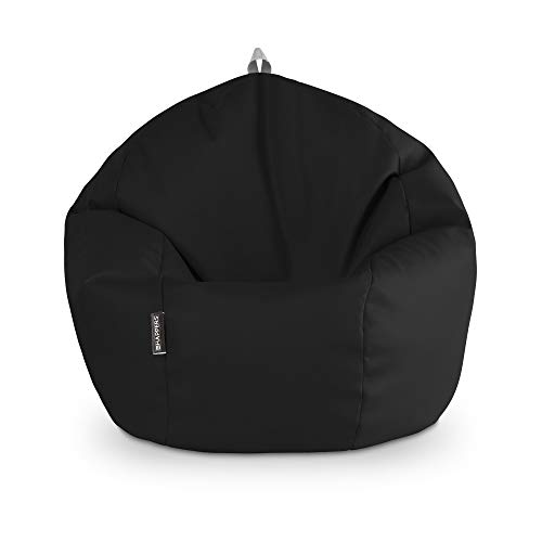 HAPPERS Puff Pelota Polipiel Indoor Negro