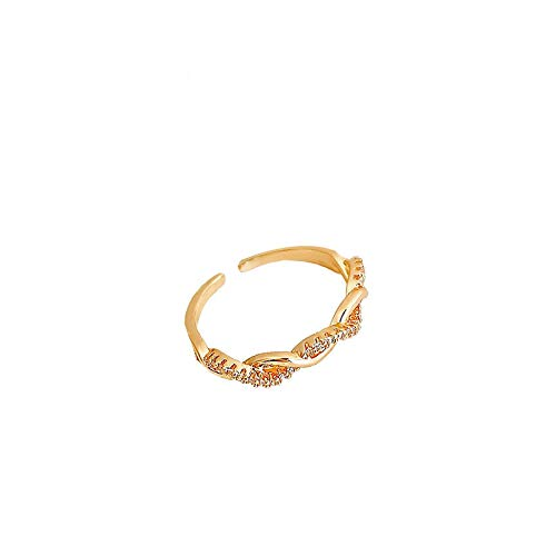 HNCZ Twist Winding Ring Female, Index Finger Ring Open Ring, Tail Ring Ring