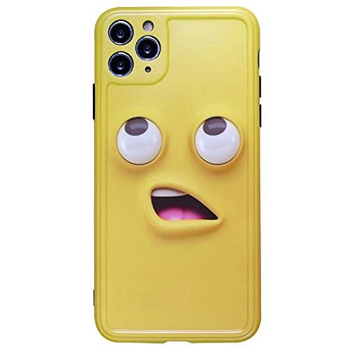 JINGJINGJIAYOU Paquete de emoticonos Divertidos de Color plátano Apple X_XS_XR Soft Back TPU Bumper Phone Cute Case Protection Cover -Color Rosa y Amarillo