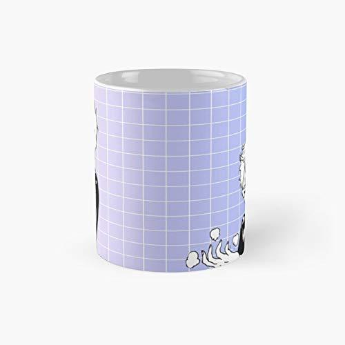 Taza clásica de Tsukki de la estética   Mejor regalo divertido tazas de café 12 oz