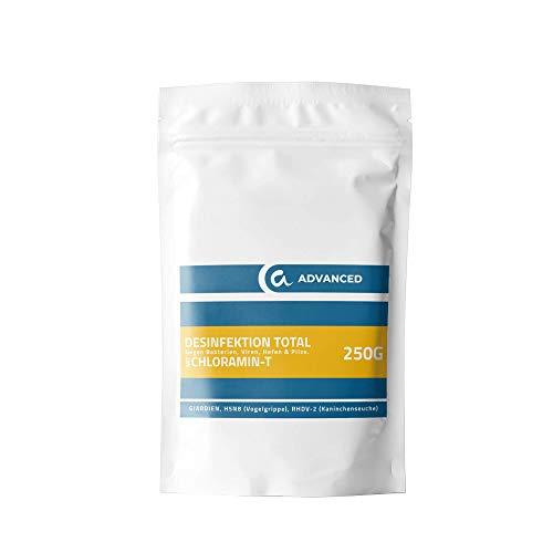 animalone - DESINFEKTION TOTAL Chloramin-T - 250 g - gegen Giardien, Viren, Bakterien, Pilze Ektoparasiten, Hefen, RHDV-2, H5N8, Geflügelpest und Kaninchenpest