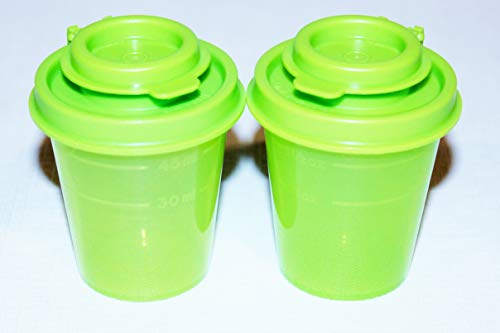 Tupperware Salt and Pepper Shakers 2 Ounce Midgets Lime Green