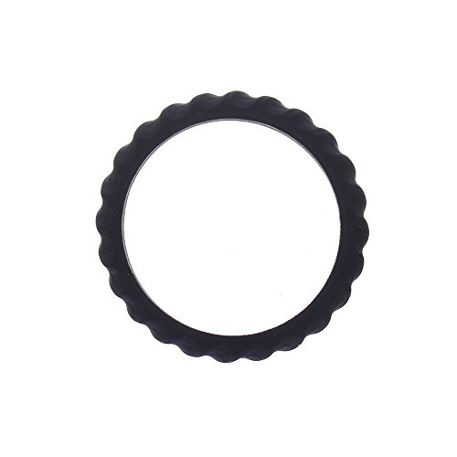 Chewigem Mild chewers Soft & Flexible, Textured, Discreet, Child Bangle & Sensory aid - for Anxiety Reduction, Improved Focus. Sensory Processing - Autism - ADHD (Twister Bangle - Black)